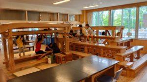 宮﨑所長基本構想・谷口工務店設計施行のワクワク空間、巨大な木工迷路。使い方は様々。子供たち次第!